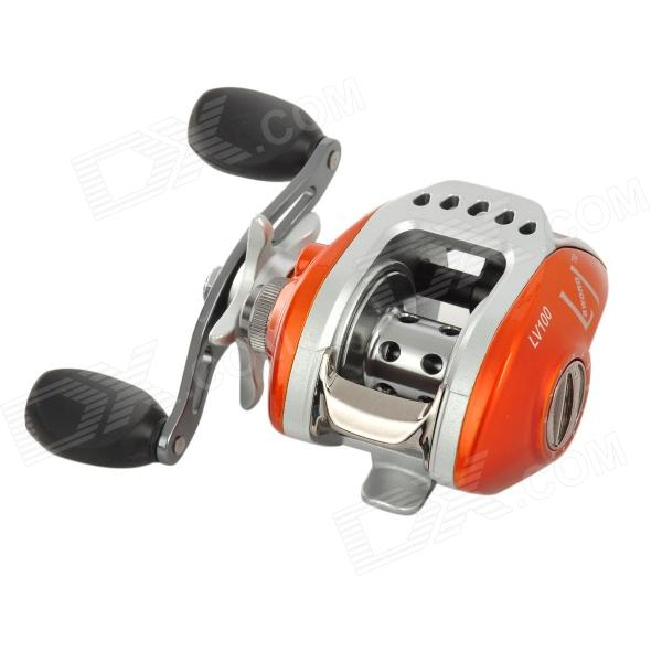 LiJian LV100 Aluminum Alloy Fishing Reel - Orange + Silver