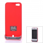 2200mAh Rechargeable Li-ion Polymer Battery Back Case Holder for iPhone 5 - Red
