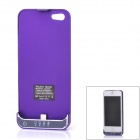 2200mAh Rechargeable Li-ion Polymer Battery Back Case Holder for iPhone 5 - Purple