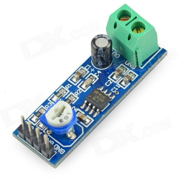 LM386 Chip 20 Gain Audio Amplifier Module - Blue
