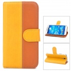 USAMS S4TY02  Protective PU+PC Flip Open Case for Samsung Galaxy S4 / i9500 - Yellow + Brown