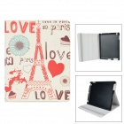 ENKAY ENK-3133 Cartoon Pattern PU Leather Smart Case w/ Holder for Ipad 2 / 3 / 4 - Multicolor