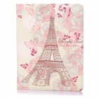 ENKAY Flower and Tower Pattern Protective PU Case for Ipad 2 / Ipad 4 / the New Ipad - Multicolor