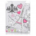 ENKAY ENK-3135 Cartoon Pattern PU Leather Smart Case w/ Holder for Ipad 2 / 3 / 4 - Multicolor