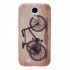 ITOP Retro Tricycle Style Plastic Back Case + Screen Protector for Samsung S4 i9500 - Brown + Black