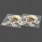 Funny Skull Style Car Decorative Sticker - Black + White + Brown