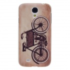 ITIOP Retro Bicycle Style Plastic Back Case + Screen Protector for Samsung S4 i9500 - Brown + Black
