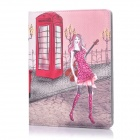ENKAY ENK-3130 Cartoon Pattern PU Leather Smart Case w/ Holder for Ipad 2 / 3 / 4 - Multicolor