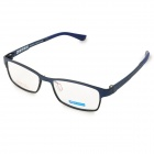 MINGDUN 2318 Business Men's Titanium Tungsten Myopia Frame PC Lens Eyeglasses - Black + Blue