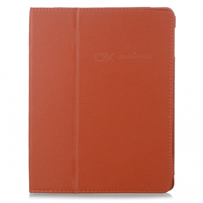 Stylish Simple Protective PU Leather Case w/ Holder for Ipad 2 / 3 / 4 - Orange multi function pu leather case vent holes sound amplifier for ipad 3 4 orange