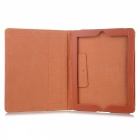 Stylish Simple Protective PU Leather Case w/ Holder for Ipad 2 / 3 / 4 - Orange