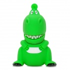 Cartoon Dinosaur Style USB 2.0 Flash Drive - Green + White (4GB)