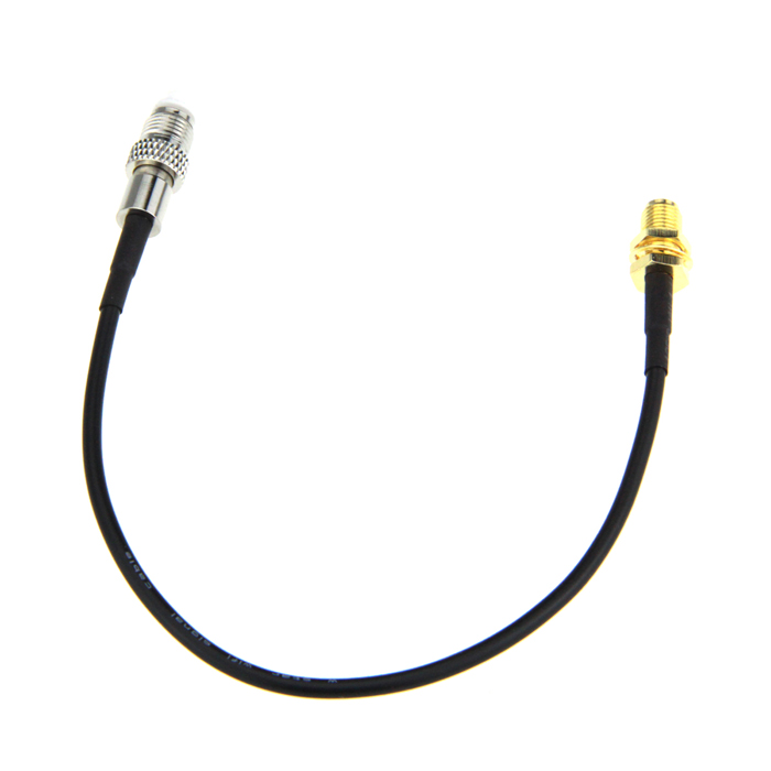 RP-SMA Female to FME Female Cable -  Black (15cm) 2015 new arrival rg174 x 15cm 1pcs rp sma female to y type 2xts9 ts 9 plug splitter combiner cable jumper pigtail