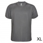 QingLongLin Men's Polyester Quick-Drying Round Neck Short T-Shirt - Grey (Size XL)