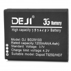 DEJI DJ-BD29100 Replacement 3.7V 1200mAh Li-Ion Battery for HTC T9292 / HD7 / HTC Schubert / G13