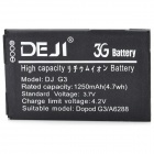 DEJI DJ-G3 Replacement 1250mAh Battery for HTC A6262 / A6288 / Google / G3 / HTC-HERO / T5399