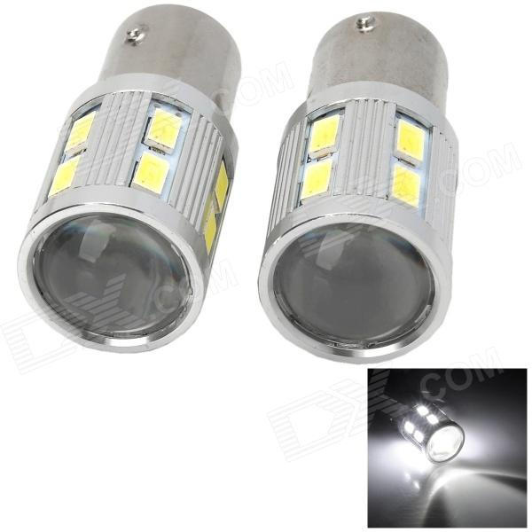 1157-TJYF 1157 8W 6500K 480lm 13 LED de luz branca Car Brake Lamp - Prata + Amarelo (12V / Pair)