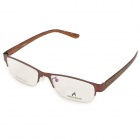 MINGDUN 8280 Fashion Nickel Alloy Myopia Half-Frame PC Lens Eyeglasses - Coffee