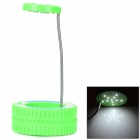 Creative Tire Shape 11-LED Eye Protection USB Desk Lamp - Green