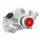 DongYing Dual-Side Adjustable Bicycle Front Disc Brake Caliper - White + Red + Black