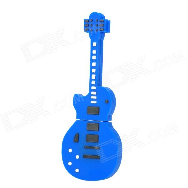 Guitar Shaped USB 2.0 Flash Drive - Deep Blue + Black (8GB)
