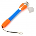 Portable USB 2.0 Micro SD TF Card Reader for Samsung i9500 / N7100 / G21 / MOTO V8 - Blue + Orange