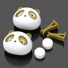 Panda bonito estilo Peach Perfume Car Air Set reciclagem - Branco + Brown (2 PCS)