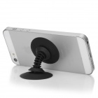 Dual-Head Silicone Suction Cup Stand for Iphone / Ipad + More - Black