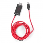 Micro USB to HDMI 1080P MHL Adapter Cable for Samsung Galaxy S4 / S3 / Note II - Black + Red (200cm)