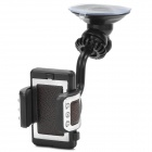 Universal Car 360 Degree Rotatable Suction Cup Mount Holder for Cell Phone - Black