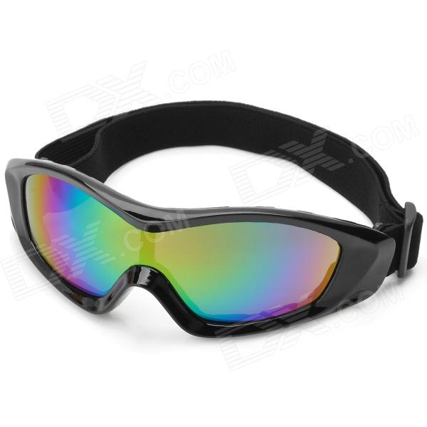Outdoor Motorcycle Riding Windproof Goggles - Black