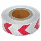 Car Arrows Pattern Reflective Sticker - Red + White (50 M)