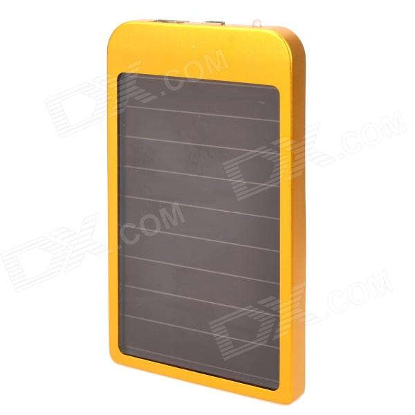 2600mAh Solar Powered External Battery Power Bank w/ 5 Charging Adapters - Golden + Black рубашки