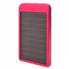 2600mAh Solar Powered External Battery Power Bank w/ 5 Charging Adapters - Deep Pink