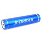 E-DREAM SMART101 External Portable Cylinder Shaped 2600mAh Power Bank - Blue