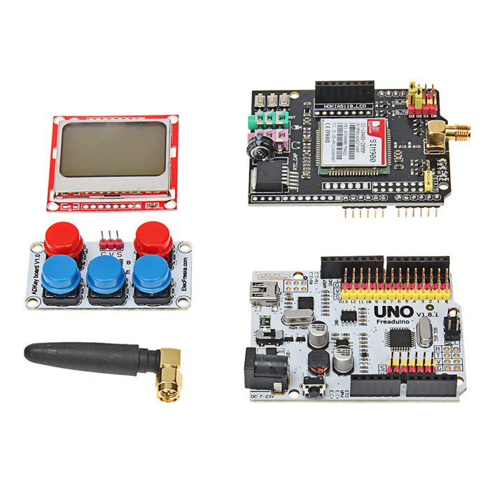 Elecfreaks DIY GPRS/GSM Learning Development Set Works with Arduino Products waveshare phone shield gsm gprs gps module for arduino stm32 support quad band 850 900 1800 1900mhz