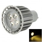 GU10 8W 320lm 3200K 4-LED Warm White Light Spotlight - Grey (85-265V)