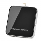 Mini Portable 2200mAh Mobile Power Charger w/ USB Charging Cable - Black