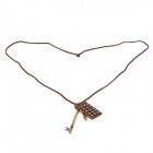 Retro Keys Pendant Copper Aluminium Alloy Necklace - Bronze + Brown
