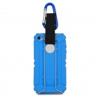Newtop Outdoor Hiking Plastic Back Case + Carabiner Set for Iphone 4S / 4 - Blue