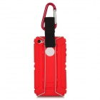 Newtop Outdoor Hiking Plastic Back Case + Carabiner Set for Iphone 4S / 4 - Red