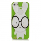 ENKAY ENK-6001A Cute Rabbit with Glasses Style Protective Back Case for Iphone 5 - White + Green