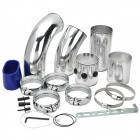 "Aluminum Alloy DIY Universal 3"" Car Intake Cold Air Injection Pipe System - Silver"