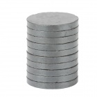 22 x 2.7mm Round Ferrite Magnet - Black (10 PCS)