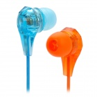 W-TV1 Sweet Candy Color 3.5mm In-ear Earphone Headset - Orange + Blue + Rosy (111cm)