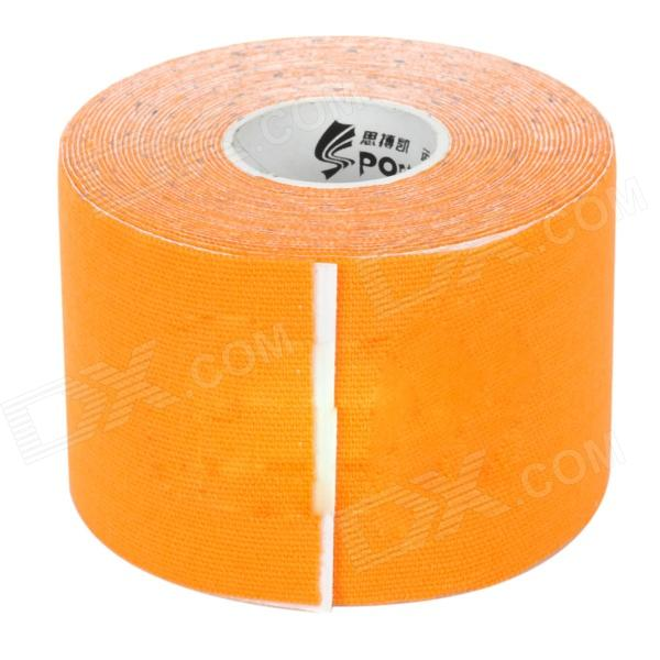 SPC Elastic Cotton Bandage Sports Tape Muscle Patch - Orange 5cm self adhesive bandage 100% cotton fitted sports bandage elastic tape medical