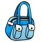 Cute 3D Cartoon Style Oxford Fabric Shoulder Bag - Blue + White + Black