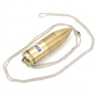 Stainless Steel + Copper Galvanização bala Shaped USB 2.0 Flash Drive w / Chain - Ouro (8 GB)