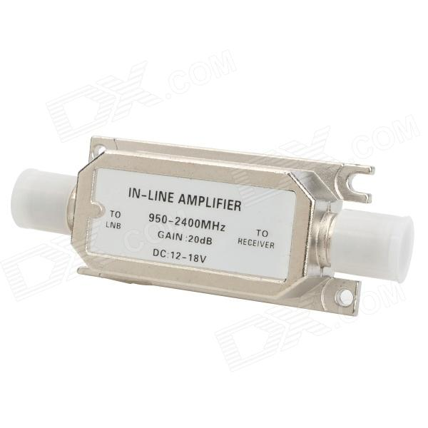Satellite Inline Signal Booster Amplifier - Silver (DC 12~18V)