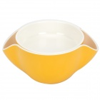 Anya Dual Layer Nuts Dish - Yellow + White